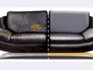Перетяжка кожаного дивана в Липецке